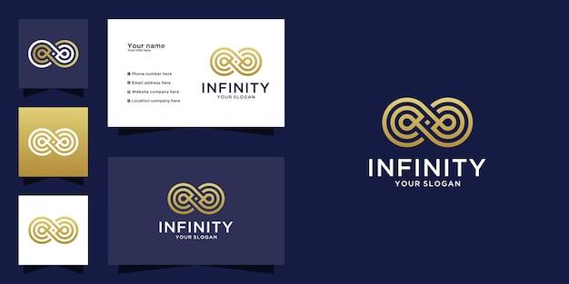 Endloses infinity-logo und visitenkarte