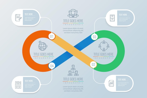 Endlosschleifen-infografik