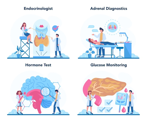 Endokrinologen-konzeptsatz