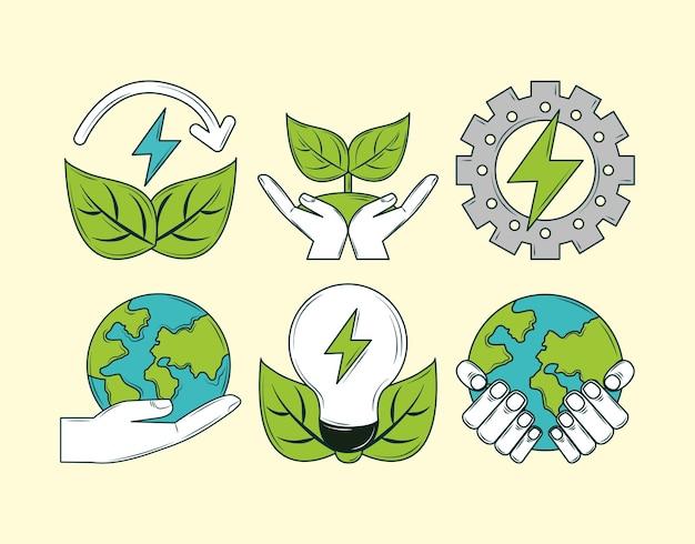 Energie erneuerbares set