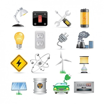 Energie icon set