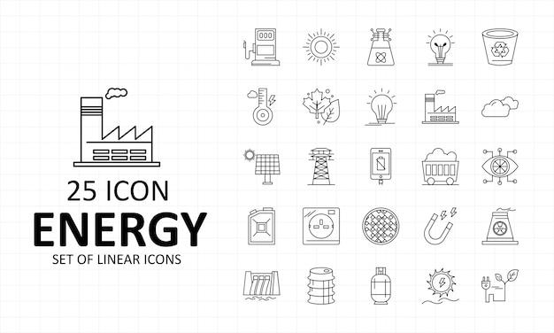 Energie-ikonen-blatt-pixel-perfekte ikonen