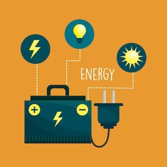 Energie Logger und Umwelt Pflege Icons