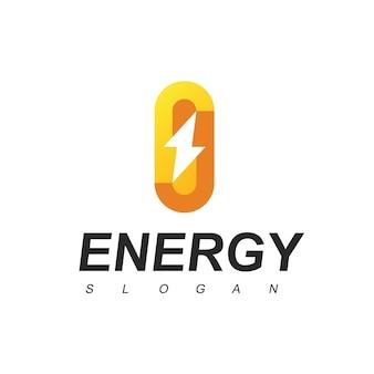 Energie-logo-emblem mit schraubensymbol