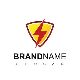 Energie-logo mit schraubensymbol