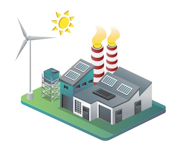 Energie sparen durch sonnenkollektoren und windmühlen