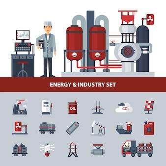 Energie und industrie set