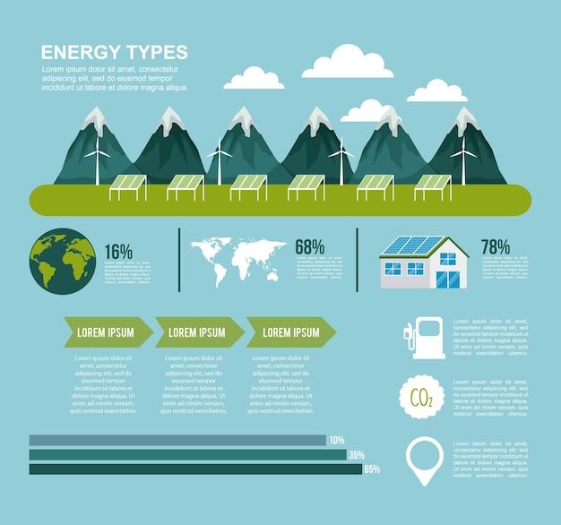 Energiearten infografiken