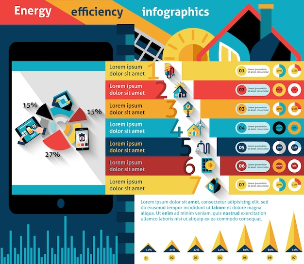 Energieeffizienz-infografiken