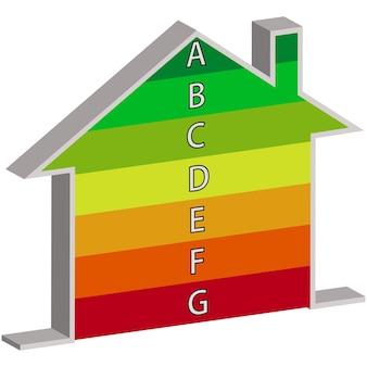 Energieeffizienzskala für gebäude. energieeffizienz. vektor