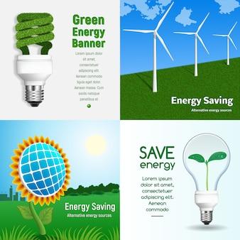 Energiesparende banner gesetzt