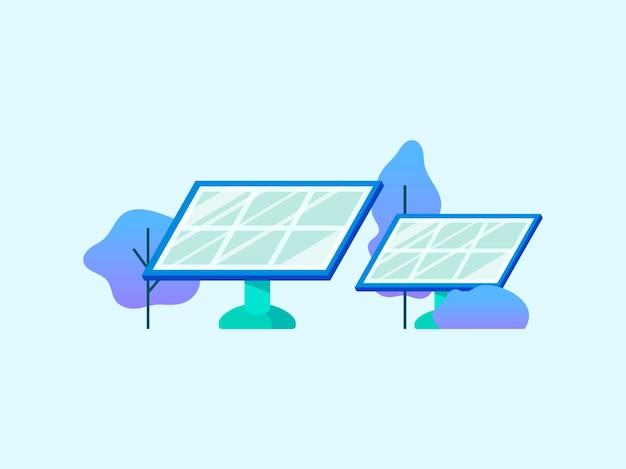 Energiesparkonzept mit sonnenkollektoren