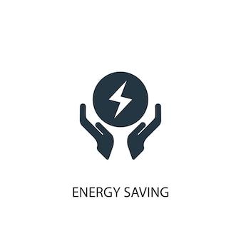 Energiesparsymbol. einfache elementabbildung. energiesparkonzept symboldesign. kann für web und mobile verwendet werden.