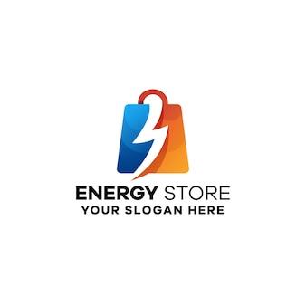 Energiespeicher farbverlauf bunte logo vorlage