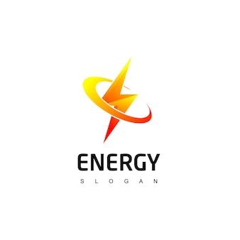 Energiesymbol mit bolzenlogo