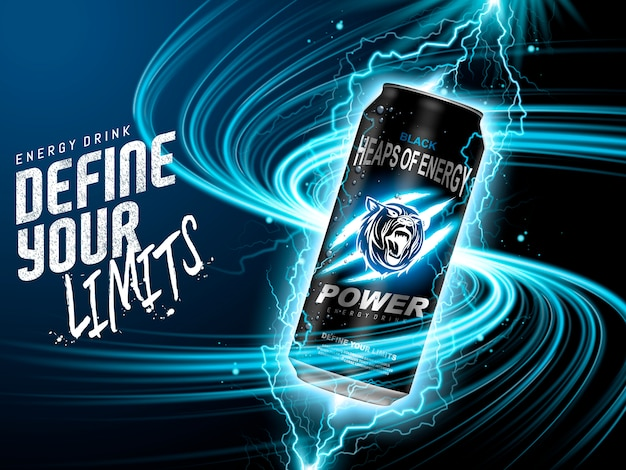 Energy-drink-anzeige