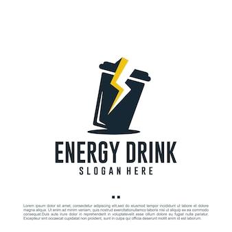 Energy-drink, flash, logo-design-vorlage