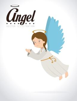 Engel design, vektor-illustration.