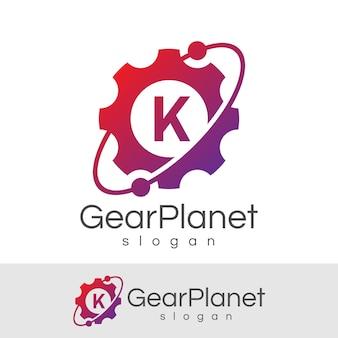 Engineering anfangsbuchstabe k logo design