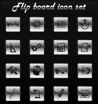 Engineering-vektor-flip-mechanische symbole für das design der benutzeroberfläche