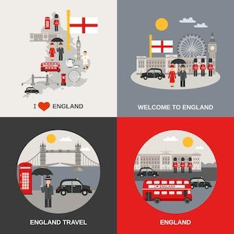 England culture travel-vektorbilder