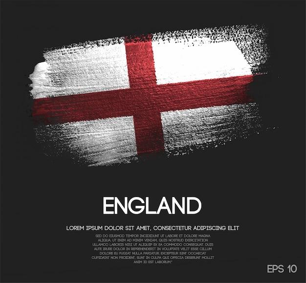 England flagge aus glitzer sparkle pinsel farbe