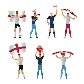 England fußballfans fröhlicher fußball