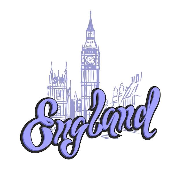 England london. beschriftung.