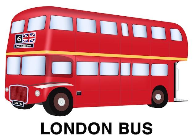 England london bus vektor auf weißem hintergrund