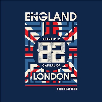 England mit abstrakter flagge grafische typografie
