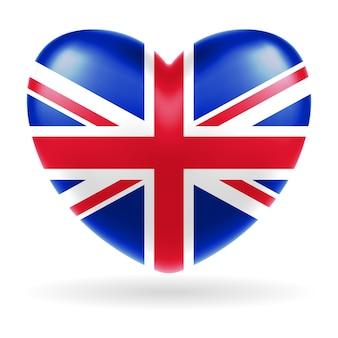 England vereinigtes königreich flagge herzform vektor