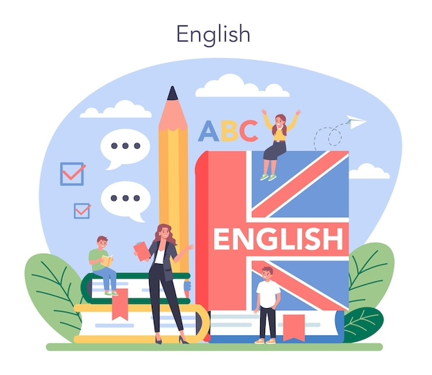 Englisch klasse konzept illustration