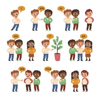 Englische fachpronomen für kinder