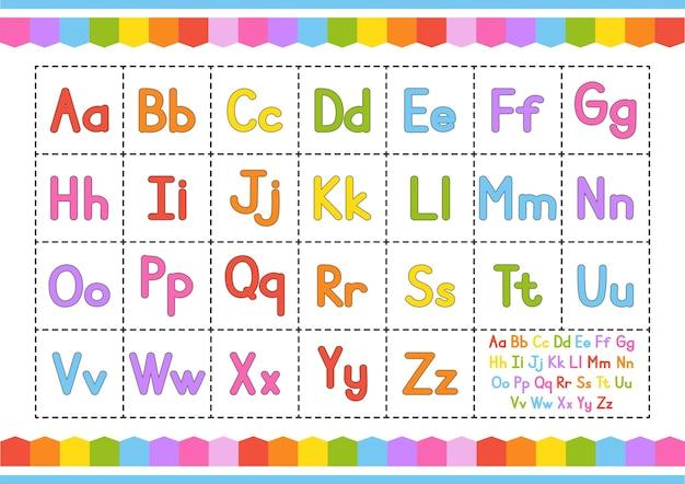 Englisches alphabet vektorset