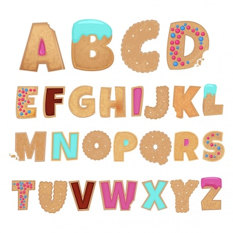 Englisches alphabet von cookies