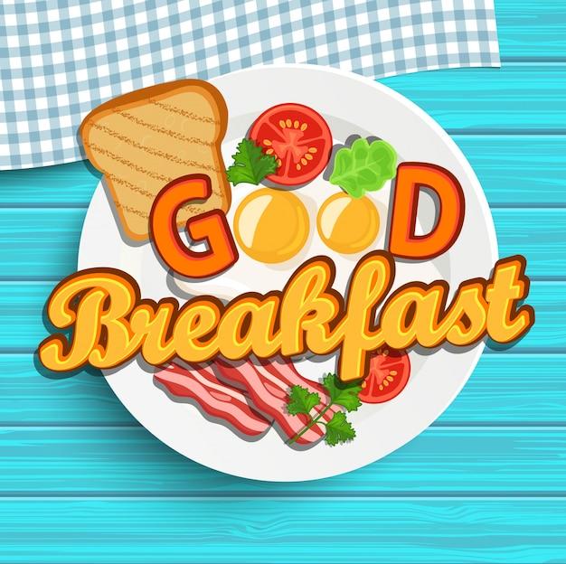 Englisches frühstück. vektor.
