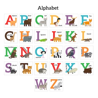 Englisches tierzoo-alphabet