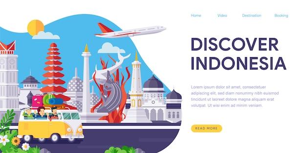 Entdecken sie indonesien landing page