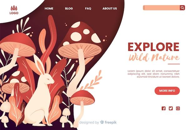 Entdecken sie wilde natur web-vorlage