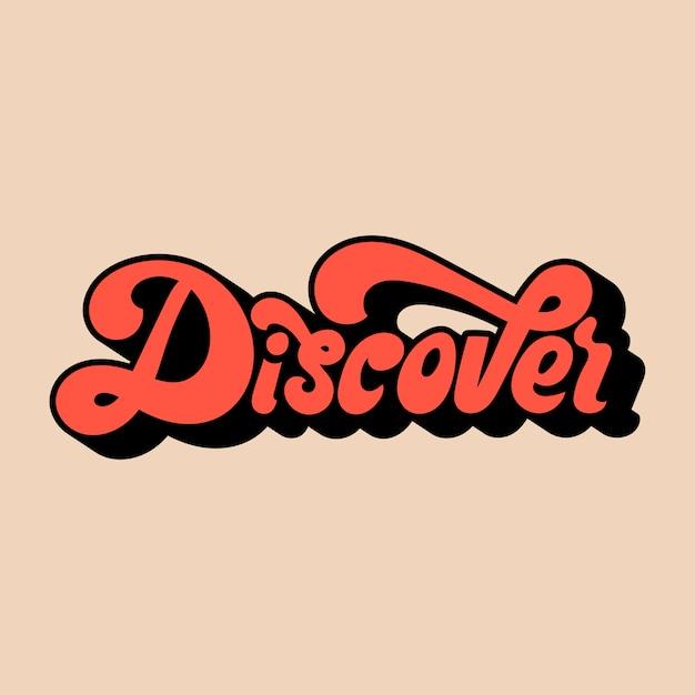 Entdecken sie wort typografie stil illustration