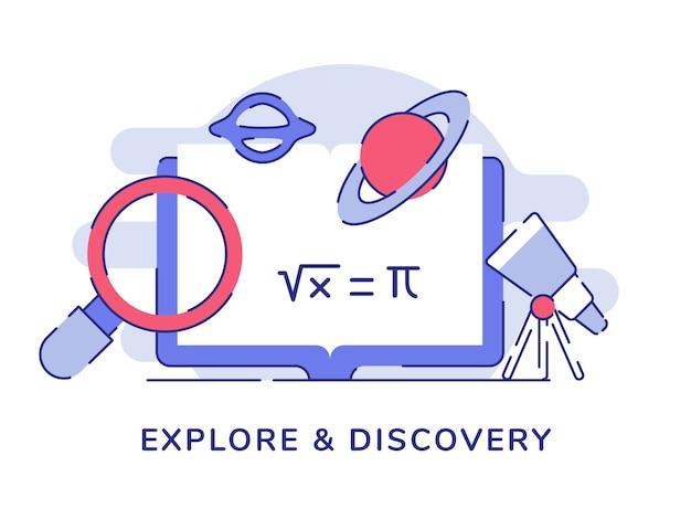 Entdecken und entdecken sie das konzept des vergrößerten planetenraums auf dem computerbildschirm