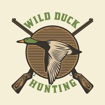 Ente, die wildes emblemabzeichen jagt