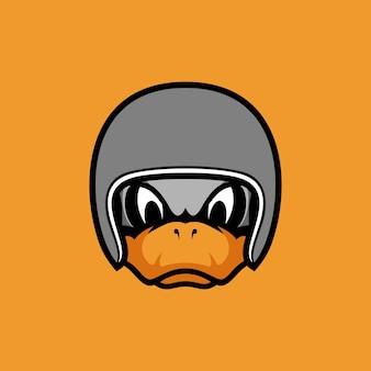 Enten-maskottchen-design
