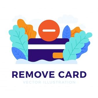 Entfernen sie die lokalisierte kreditkarte