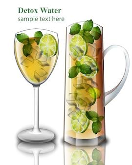 Entgiftungsgetränk realistisch. zitronen-mix-cocktails