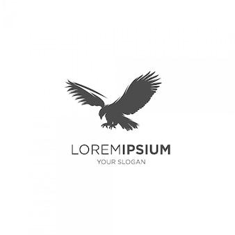 Enthäutendes falken-silhouette-logo