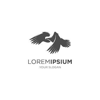 Enthäutendes taubenvogel-silhouette-logo