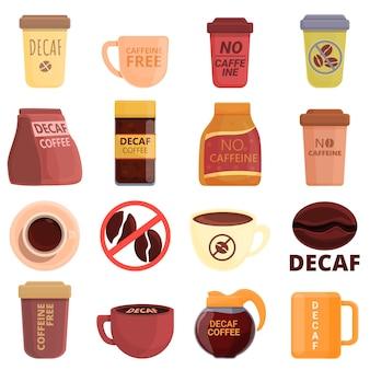 Entkoffeiniertes kaffeeset.
