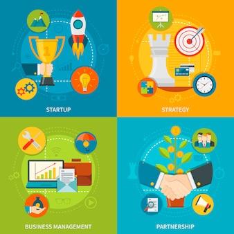 Entrepreneurship 2x2 design concept