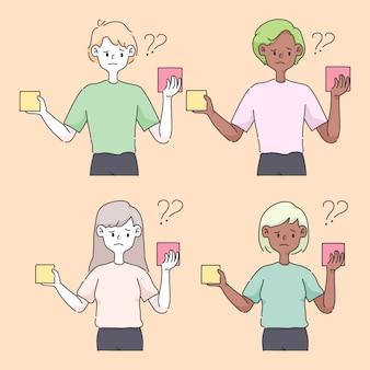 Entscheidungsfindung auswahl optionen konzept niedliche illustration